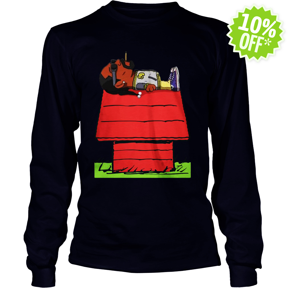 Snoop Dogg Smoking on Snoopy's doghouse longsleeve tee