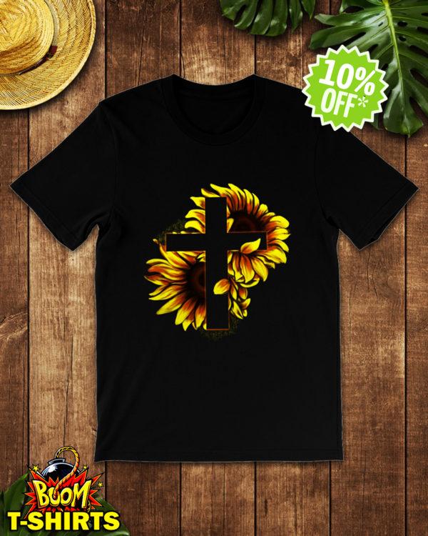 Sunflower Jesus Cross shirt