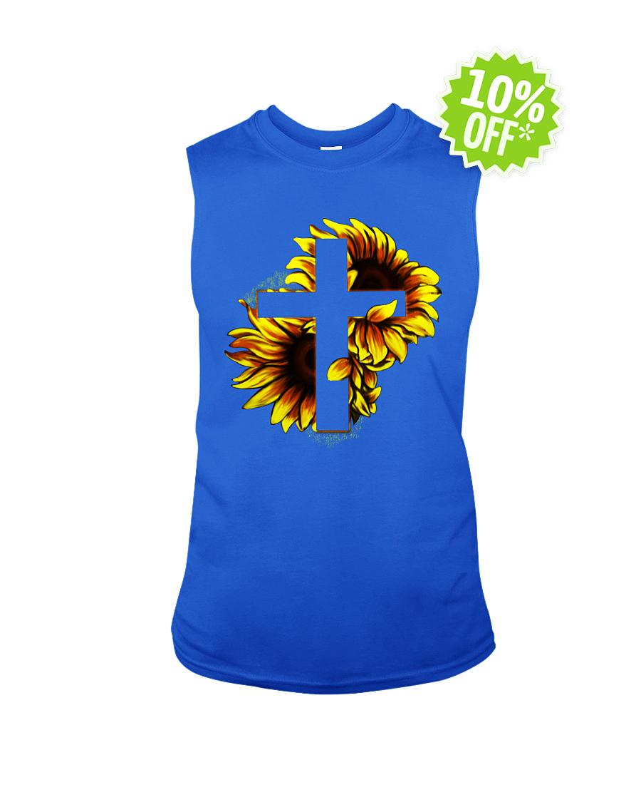 Sunflower Jesus Cross sleeveless tee