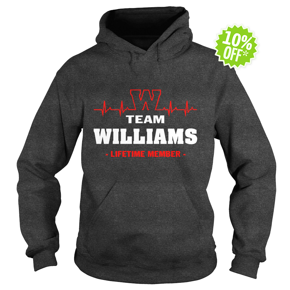 Team Williams lifetime member hoodie