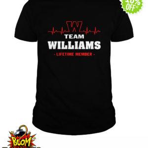 Team Williams lifetime member shirt