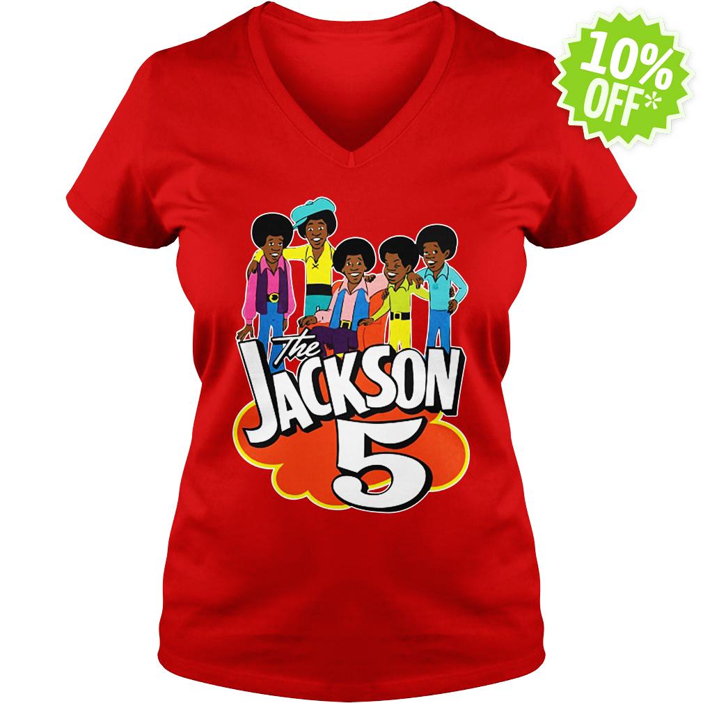 The Jackson 5 70's Cartoon v-neck