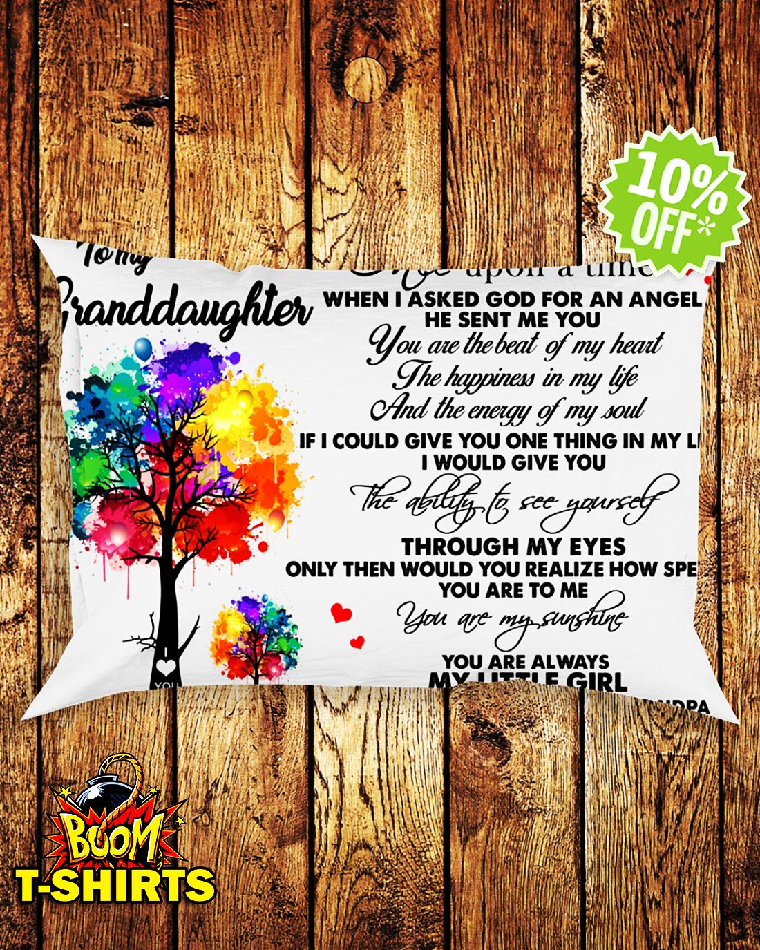 To my granddaughter once upon a time Pillowcase
