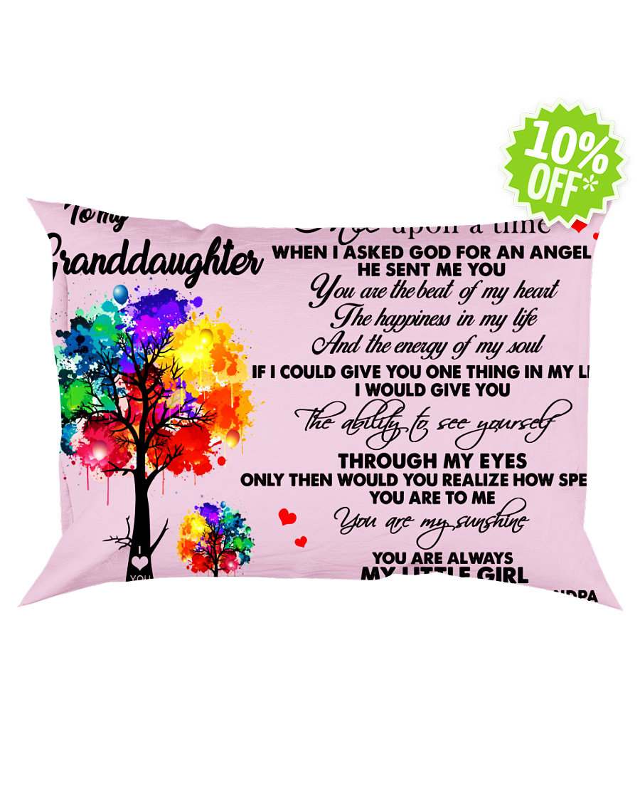 To my granddaughter once upon a time classic pink Pillowcase