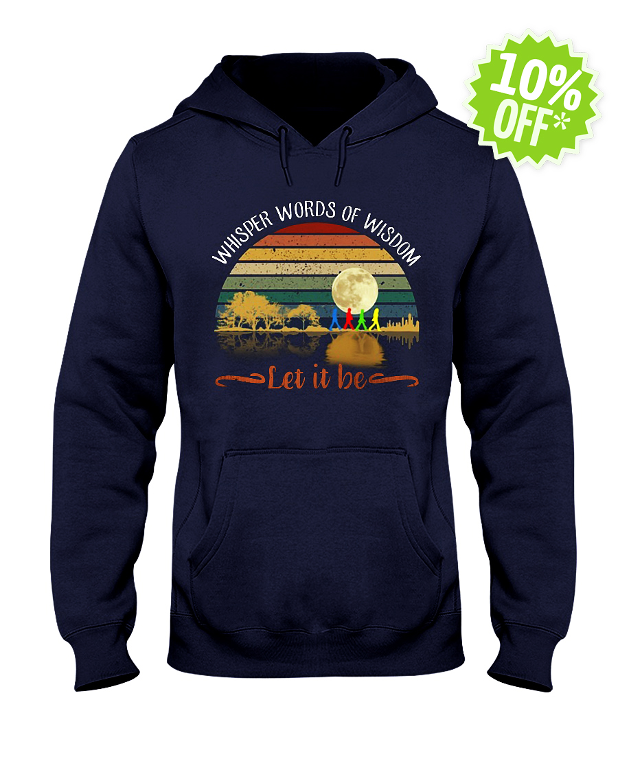 Whisper Words of Wisdom Let It Be Guitar Moon The Beatles Abbey Road hooded sweatshirt