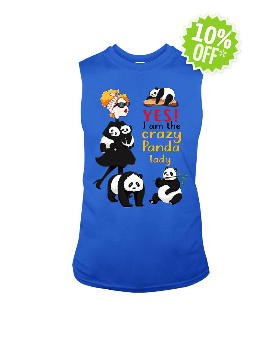 Yes I am the crazy Panda lady sleeveless tee
