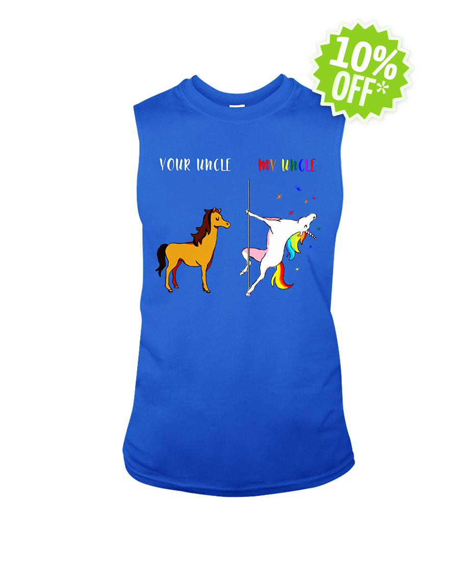 Your Uncle My Uncle Unicorn LGBT sleeveless tee