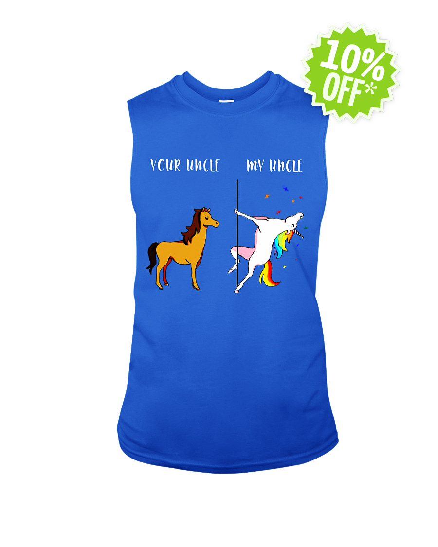 Your Uncle My Uncle Unicorn sleeveless tee