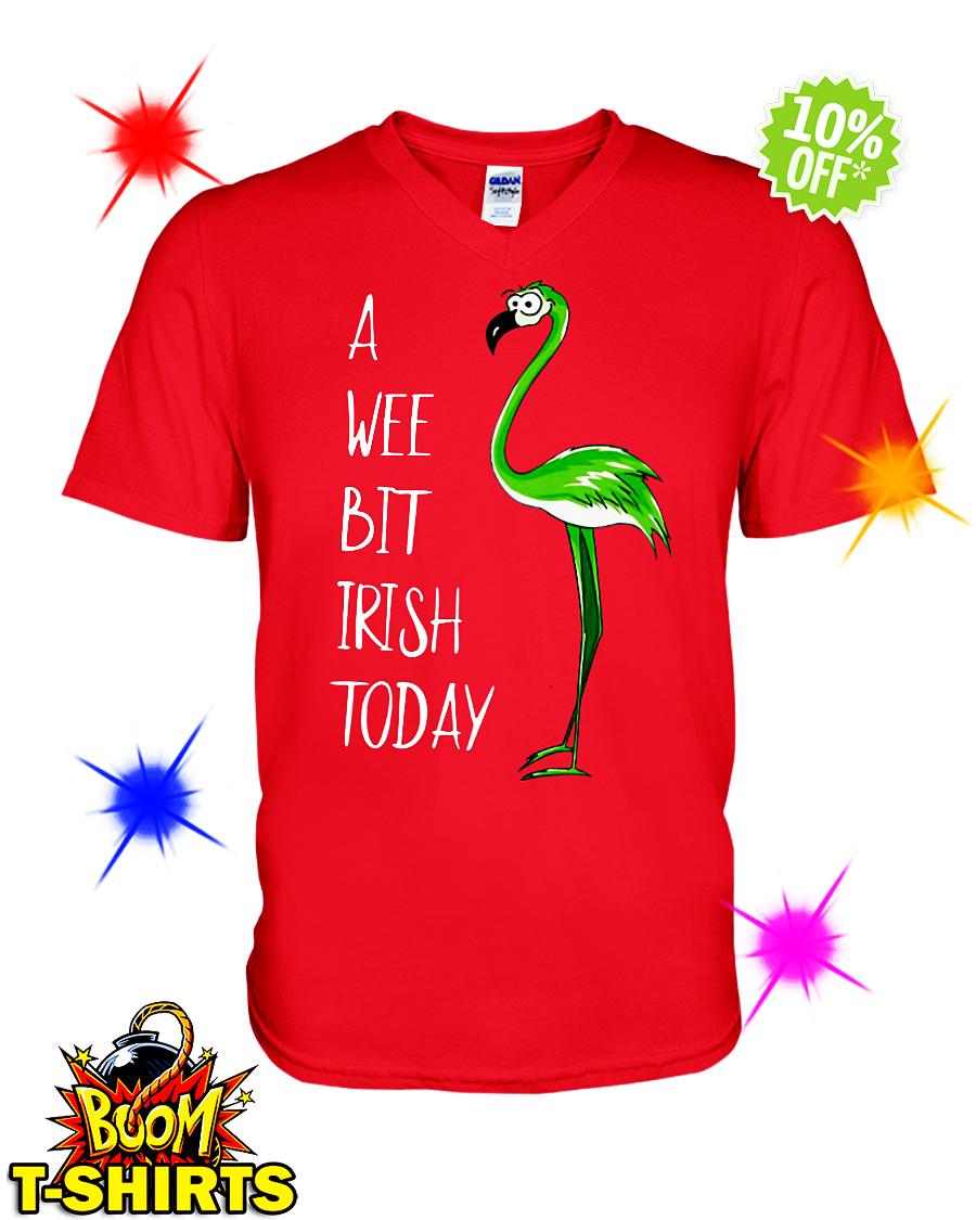 A wee bit irish today Flamingo v-neck