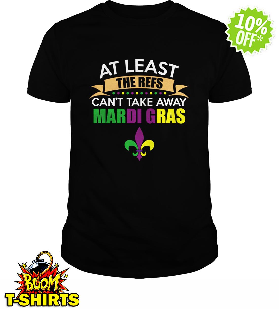 At least the refs cat take away Mardi Gras New Orleans Saints shirt