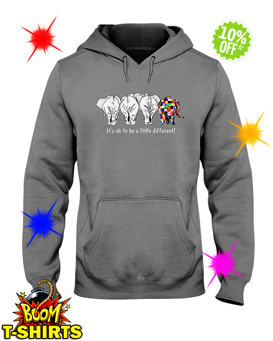Autism elephant it's ok to be a little different hoodie