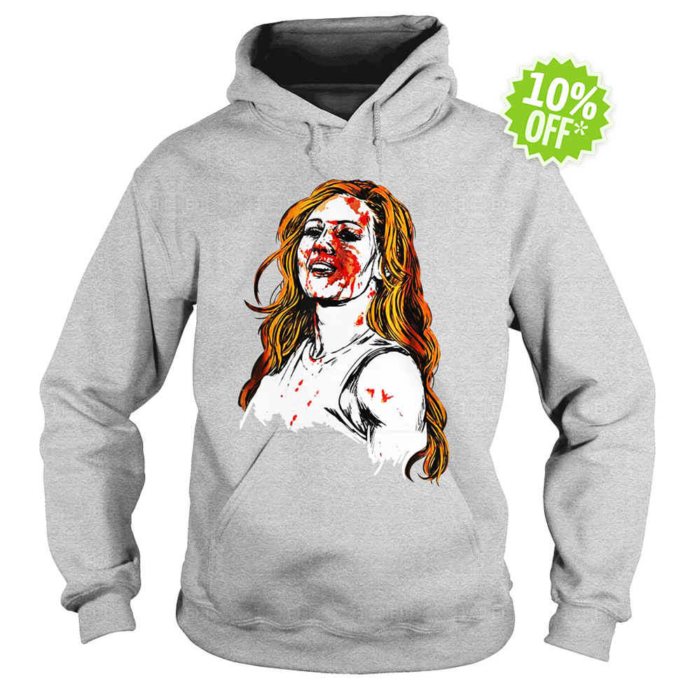 Becky Lynch blood hoodie
