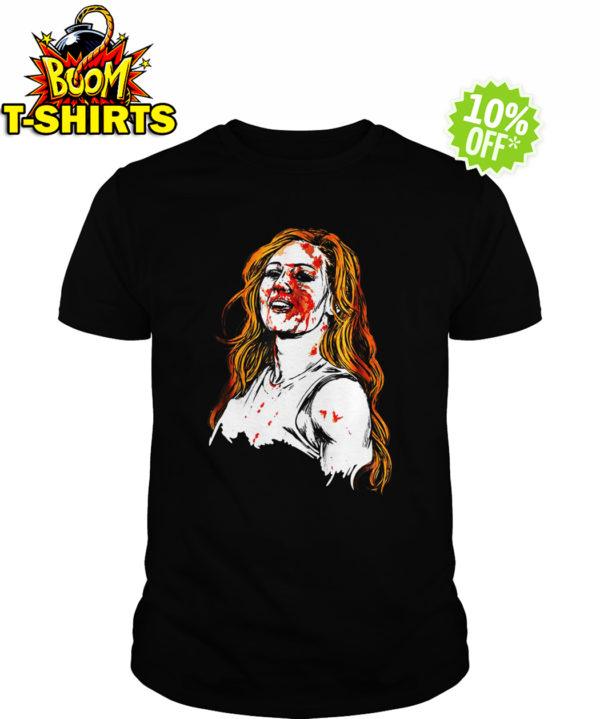 Becky Lynch blood shirt