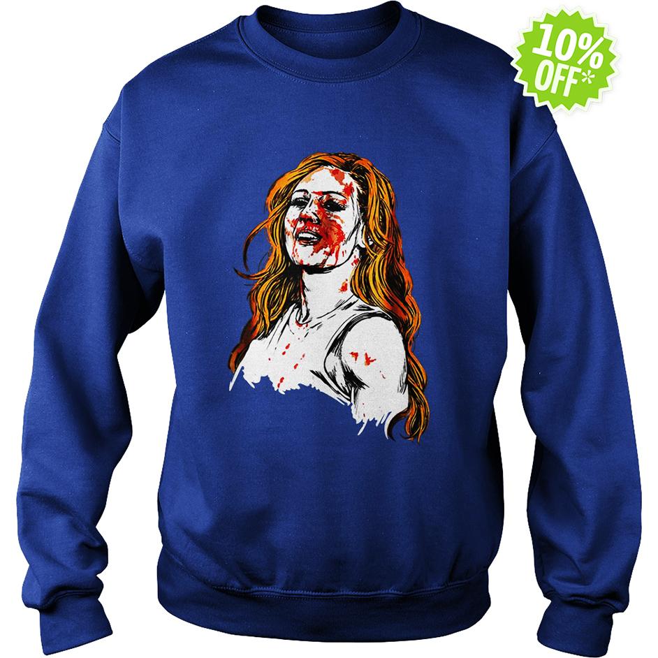 Becky Lynch blood sweatshirt