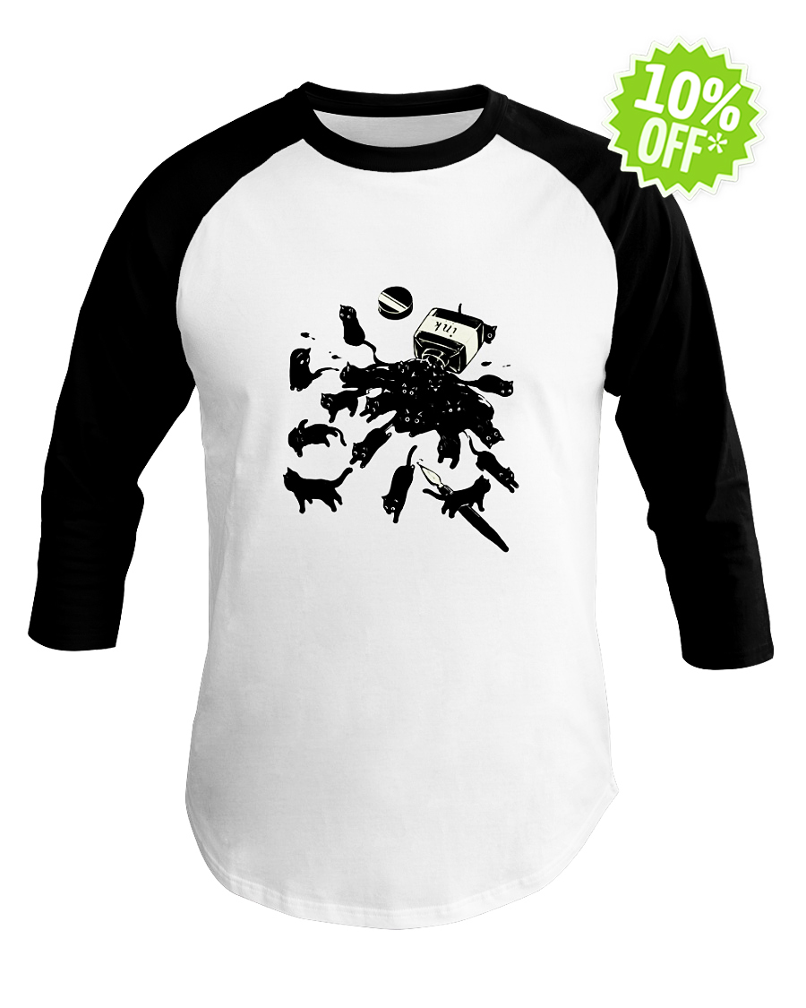 Black Cat Ink baseball tee