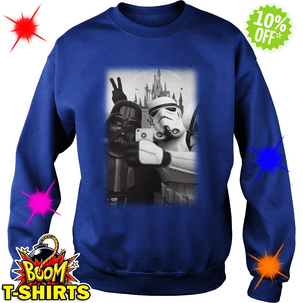 Darth Vader And Stormtrooper Selfie in Disneyland sweatshirt