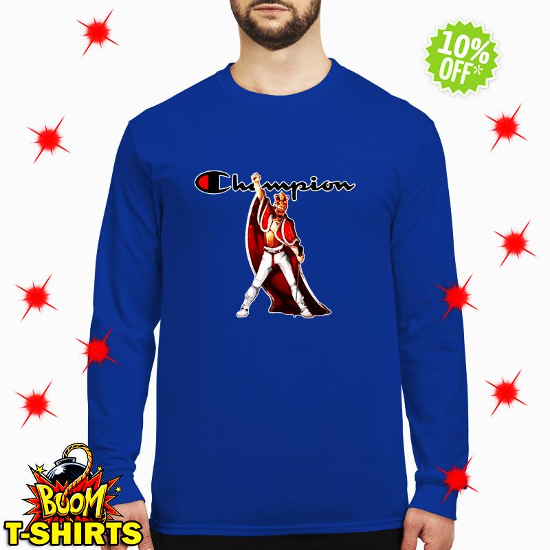 Freddie Mercury king robe and crown champion long sleeved tee