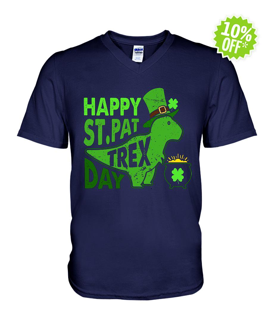 Happy St. Pat T-Rex Day v-neck