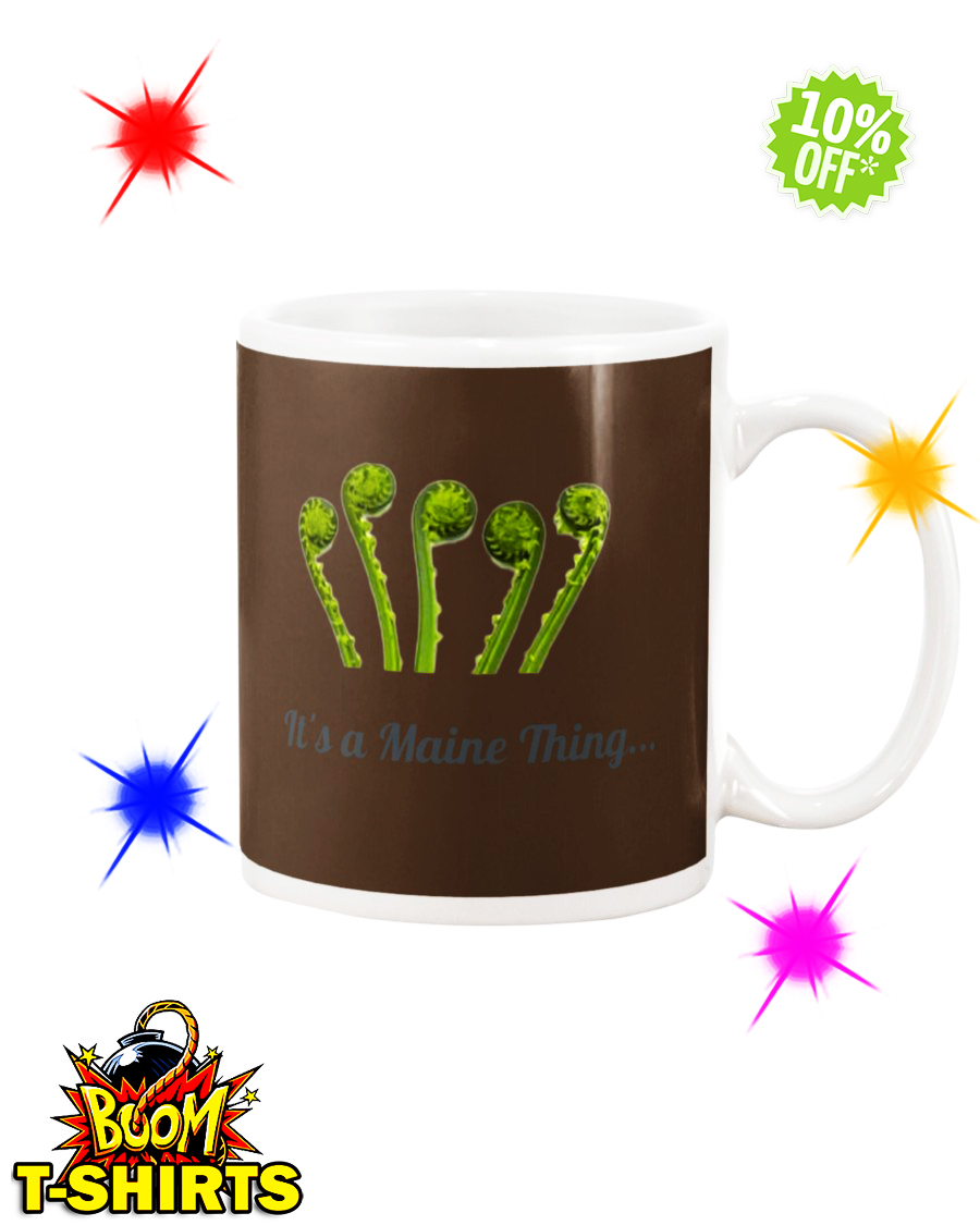 It's a Maine Thing Fiddlehead Chocolate mug