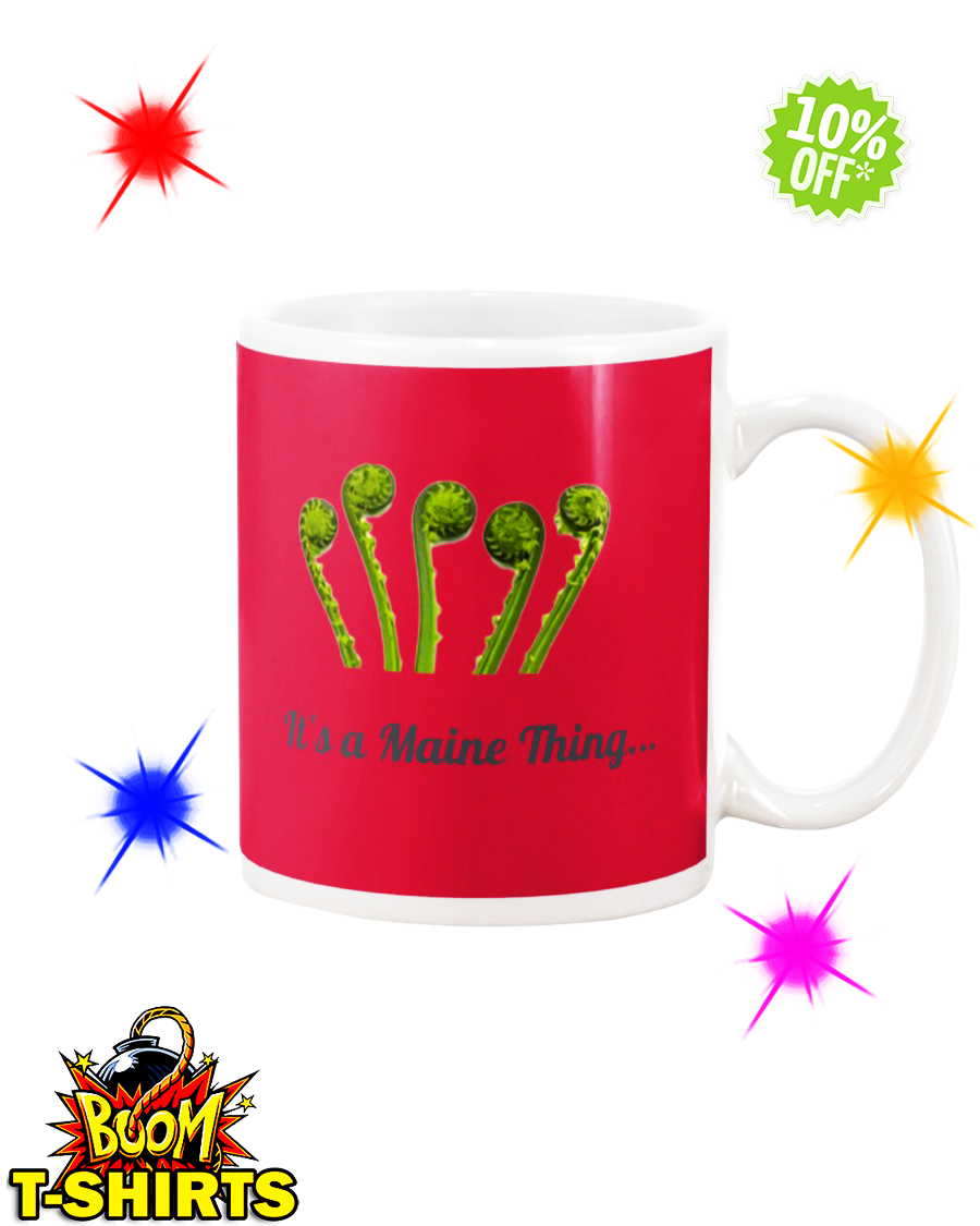 It's a Maine Thing Fiddlehead True Red mug