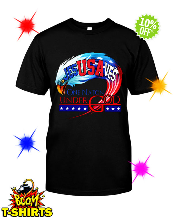 Jesus Saves USA One Nation Under God shirt