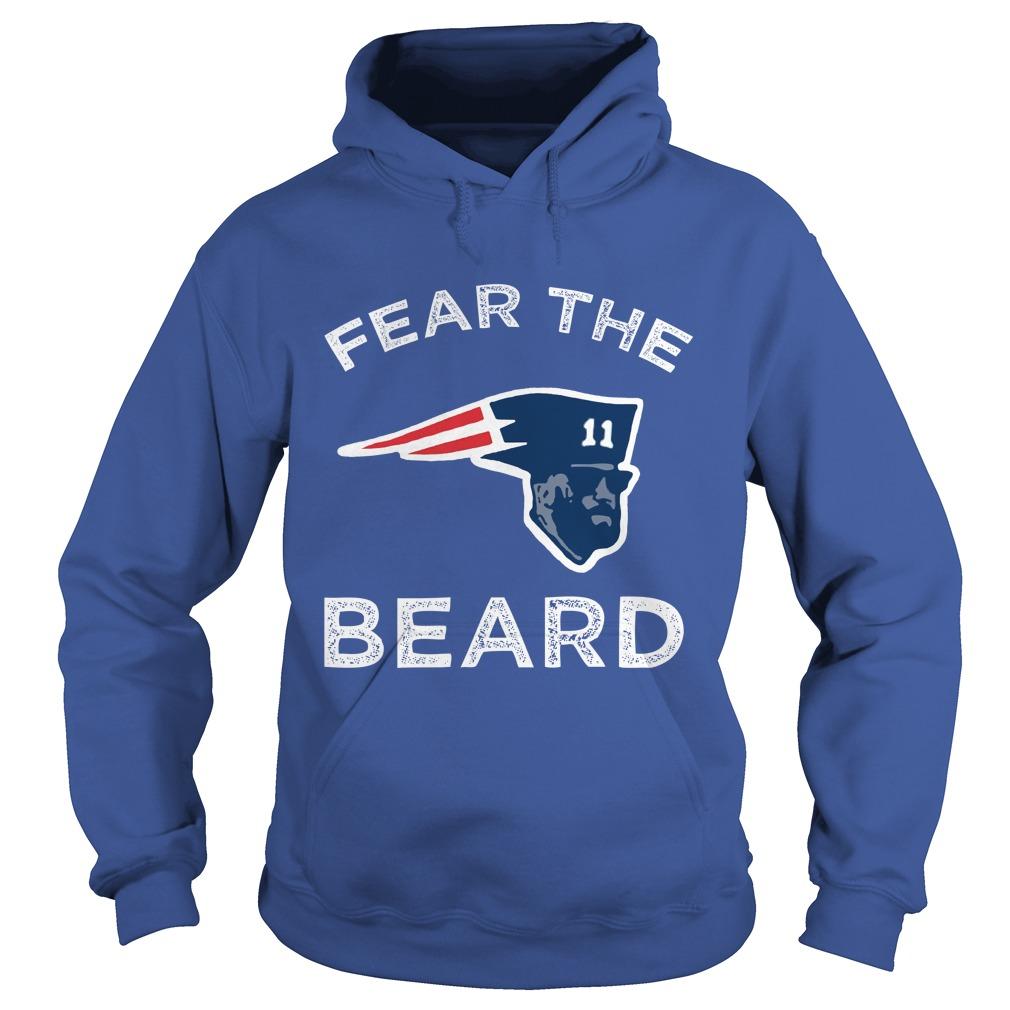 Julian Edelman Patriots Fear The Beard hoodie