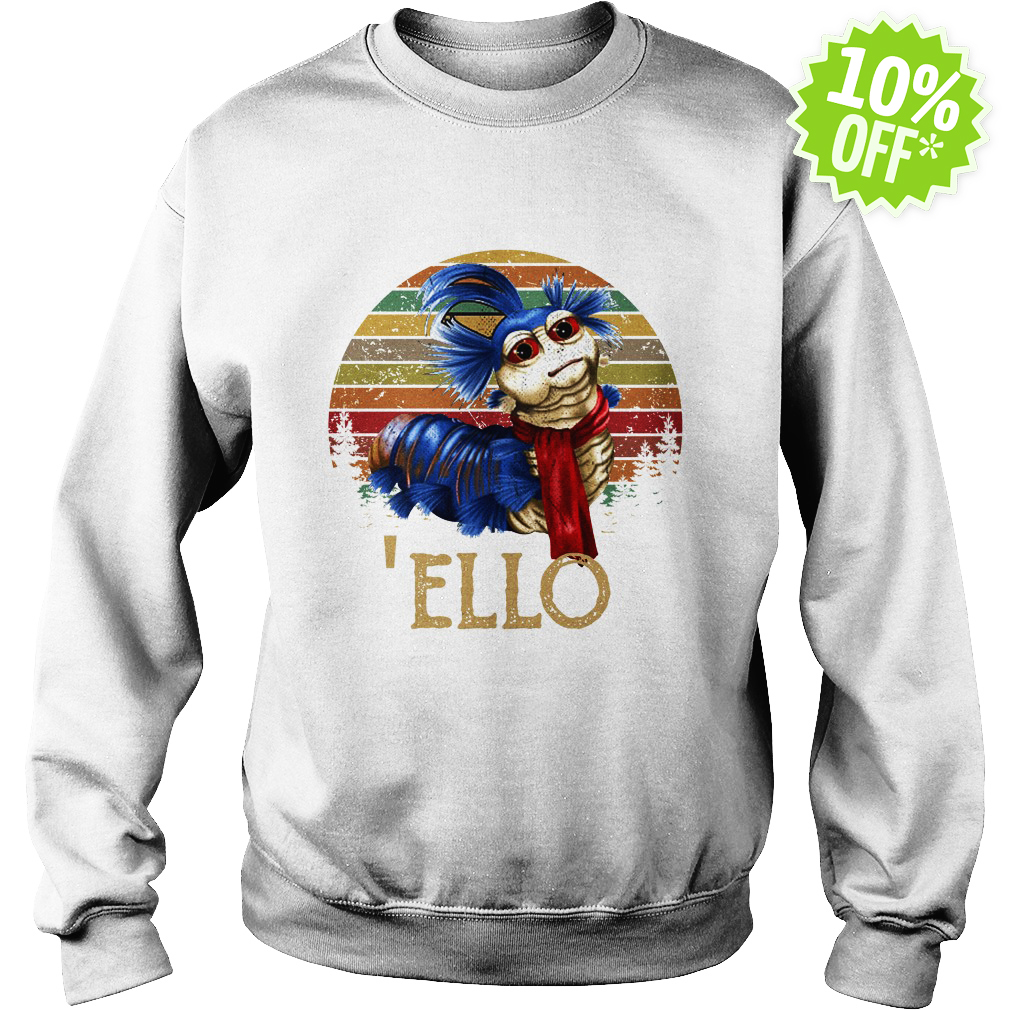 Labyrinth 'Ello Worm Vintage Retro sweatshirt