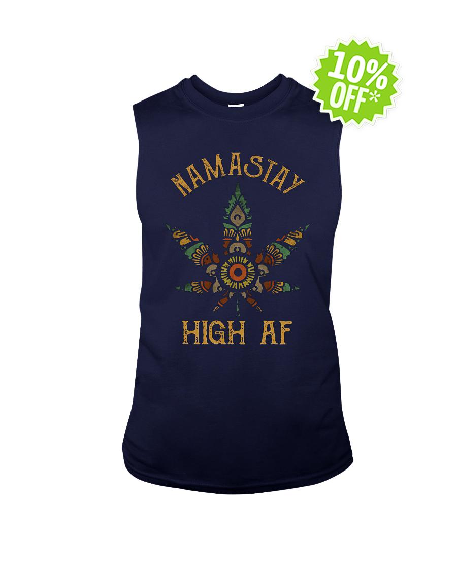 Namastay High AF sleeveless tee