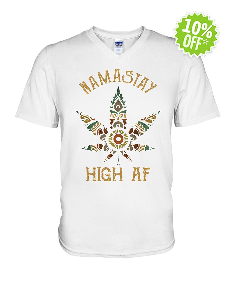 Namastay High AF v-neck