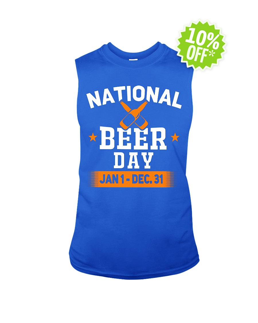 National beer day Jan 1 Dec 31 sleeveless tee