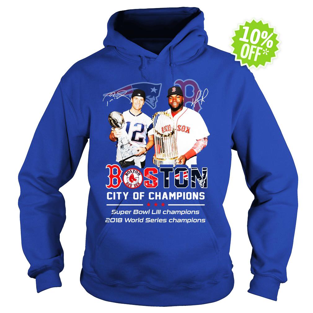 Patriots Boston City of champions Super Bowl LIII hoodie