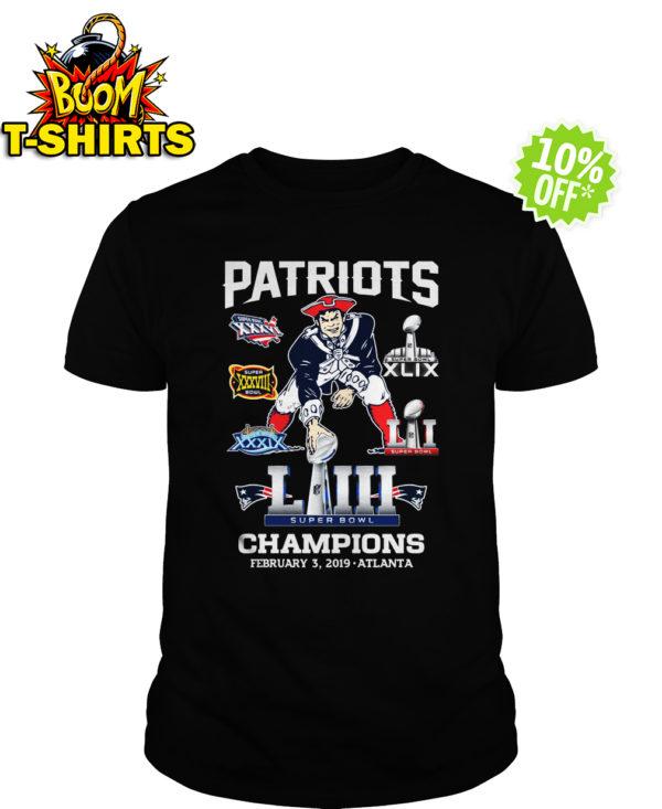 Patriots Super Bowl LIII Champions February 3 2019 Atlanta shirt