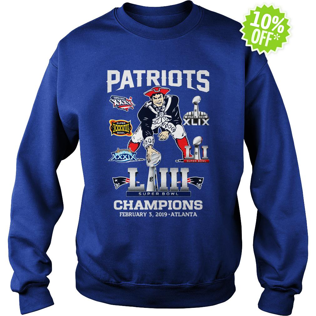 Patriots Super Bowl LIII Champions February 3 2019 Atlanta sweatshirt