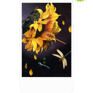 Sunflower and dragonfly Phone Case