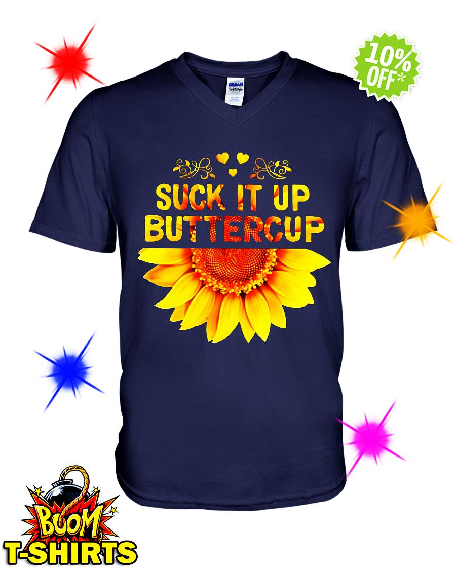 Sunflower suck it up buttercup v-neck