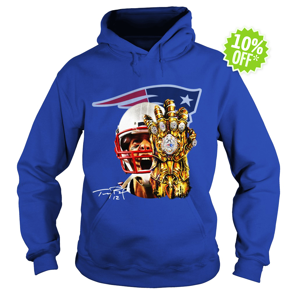 Tom Brady Thanos infinity gauntlet Patriots hoodie