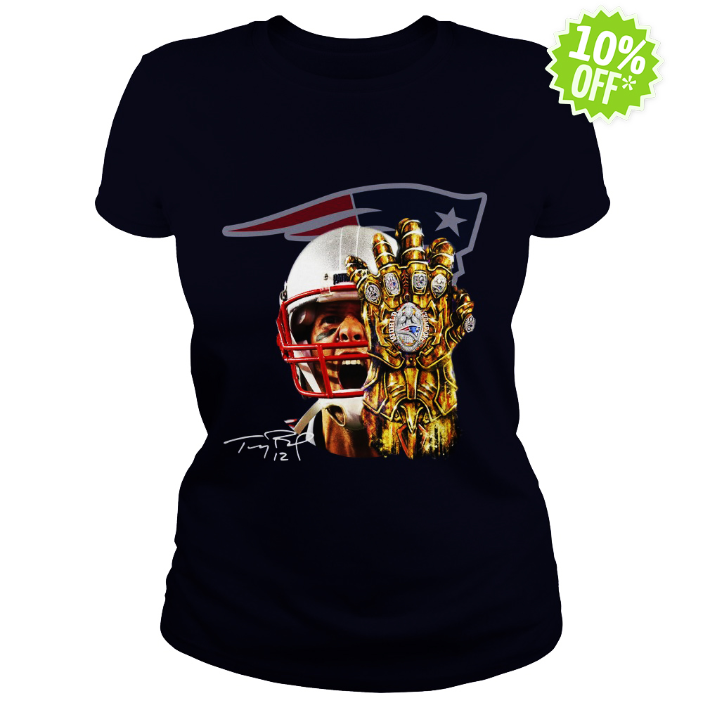 Tom Brady Thanos infinity gauntlet Patriots lady shirt