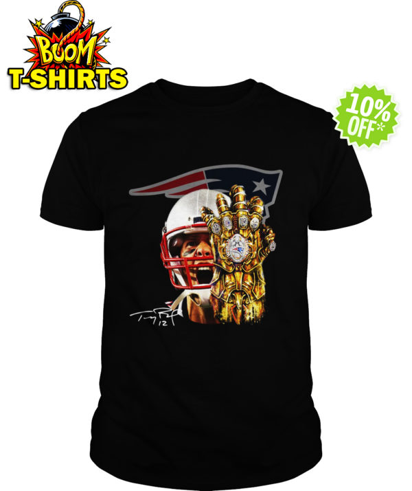 Tom Brady Thanos infinity gauntlet Patriots shirt