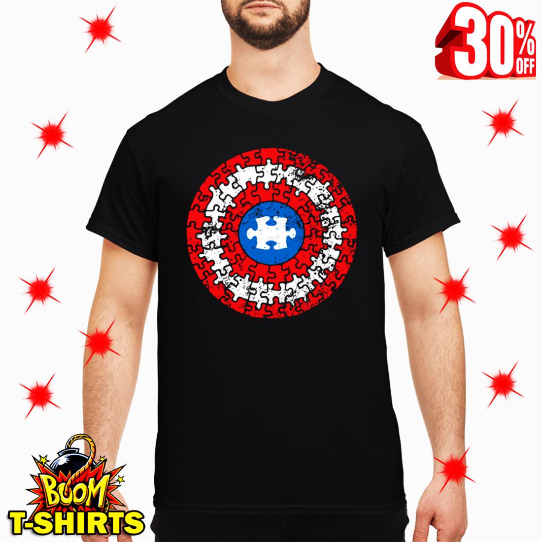 Autism Awareness Puzzle Superhero Shield T Shirt