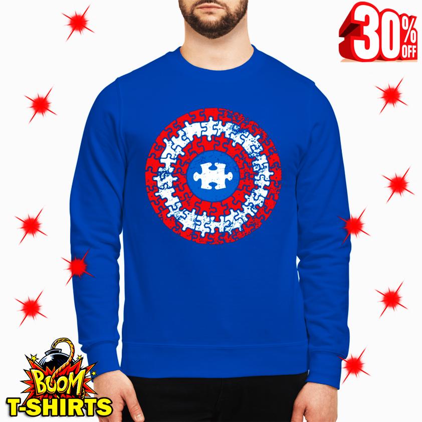 Autism Awareness Puzzle Superhero Shield sweatshirt