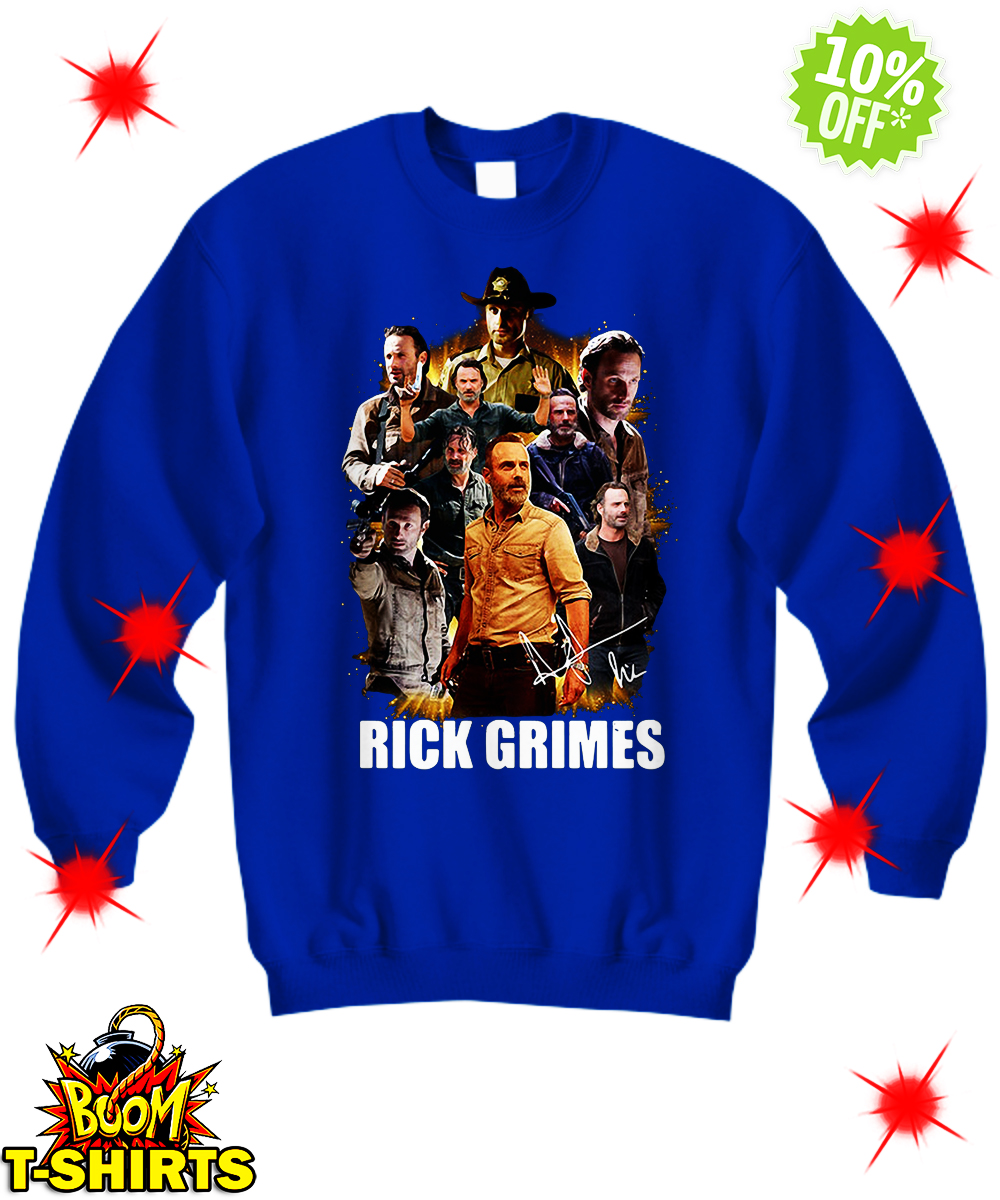 Autographed The Walking Dead Rick Grimes sweatshirt