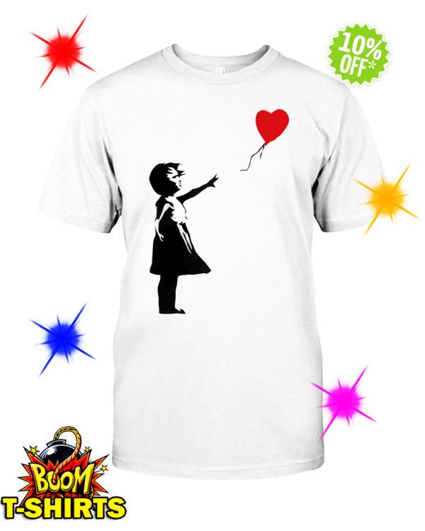 Banksy Girl Heart Balloon shirt
