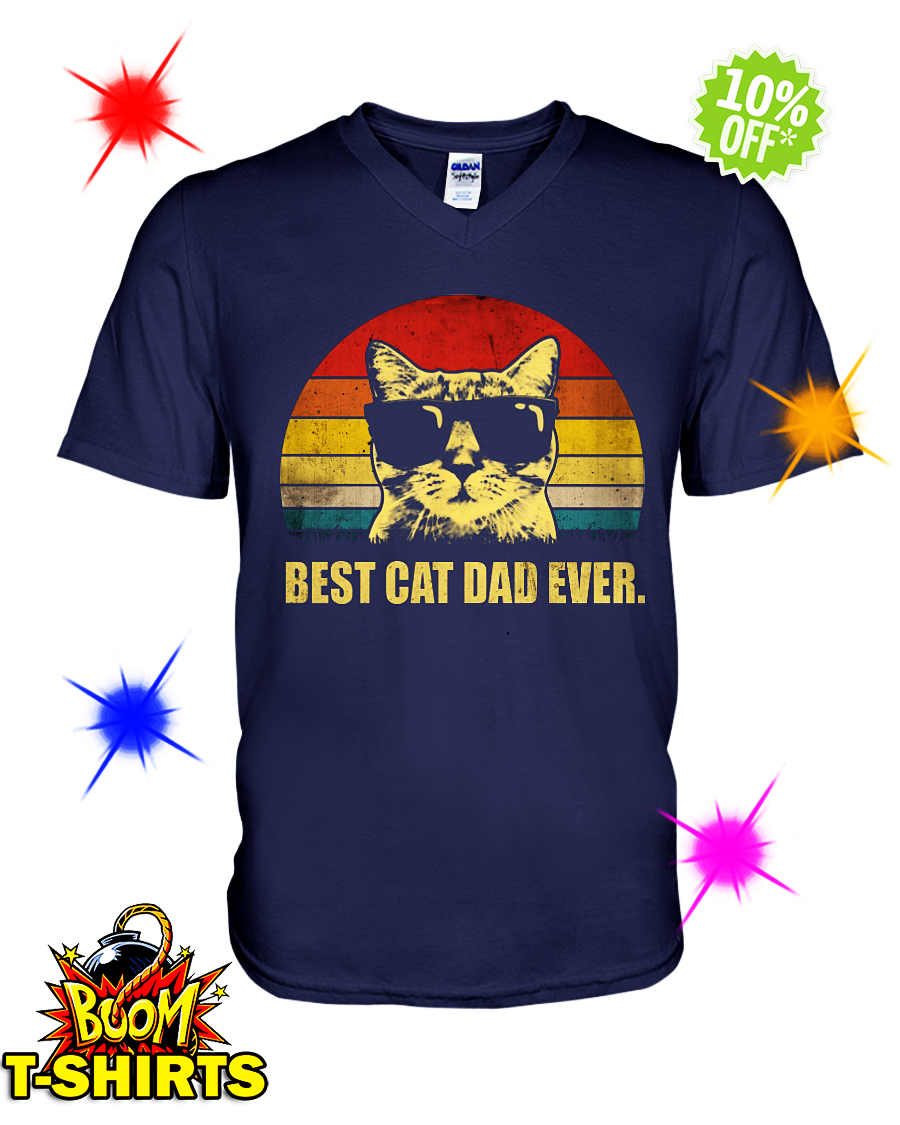 Best Cat Dad Ever v-neck