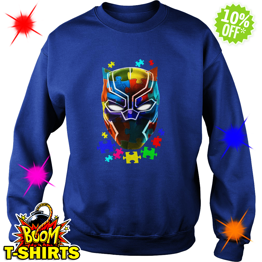 Black panther Autism sweatshirt