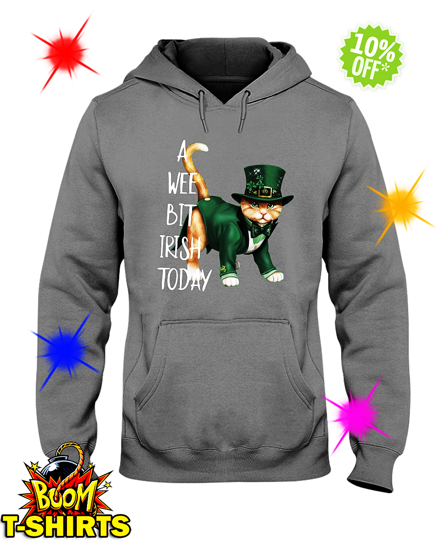 Cat a wee bit irish today hoodie