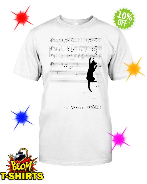Cat mischief Music Staff shirt