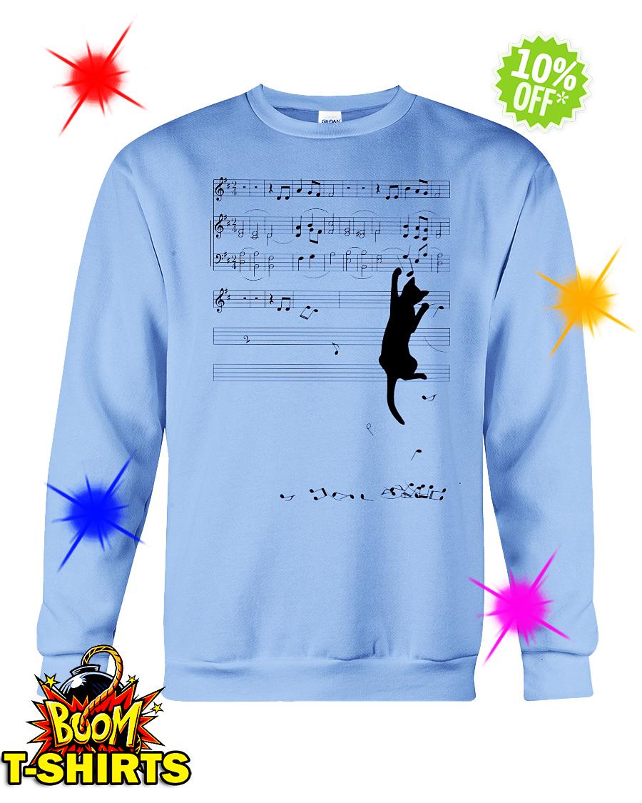 Cat mischief Music Staff sweatshirt