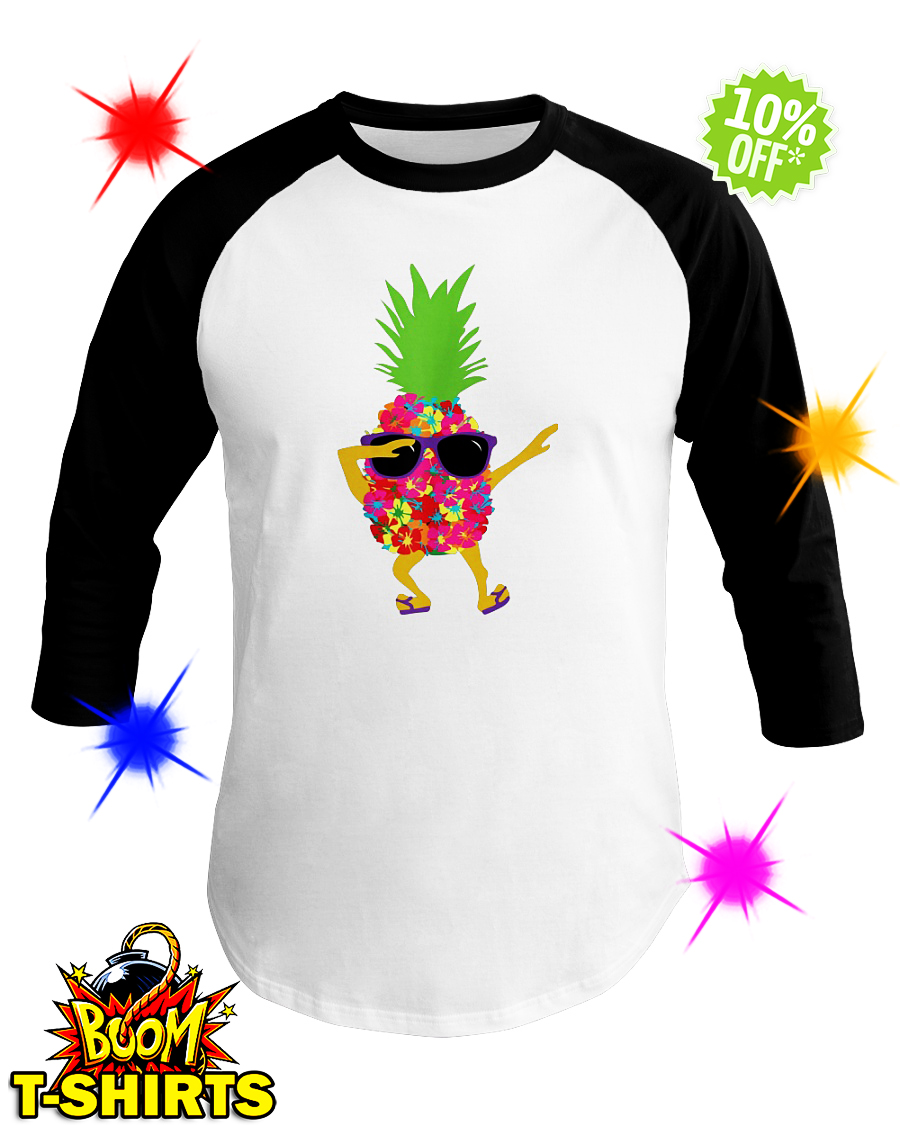 Dabbing Pineapple Sunglasses baseball tee