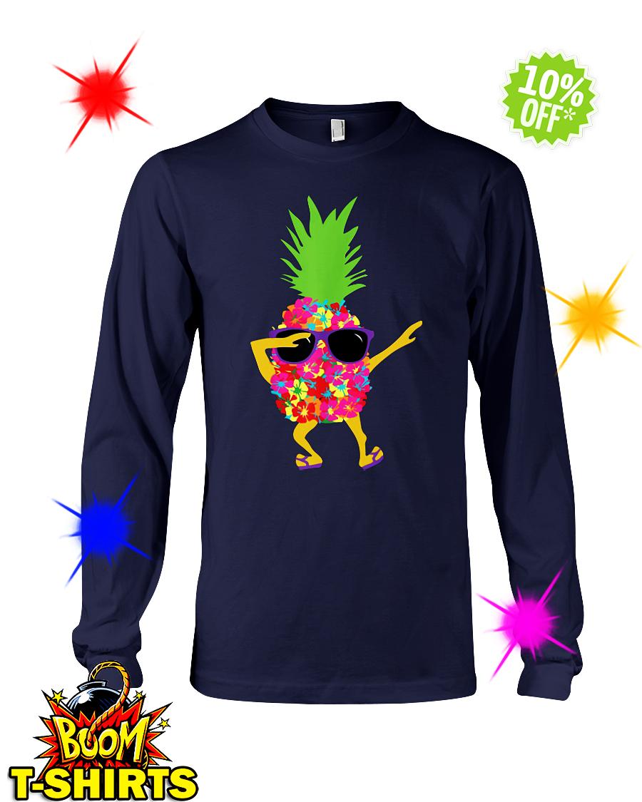 Dabbing Pineapple Sunglasses longsleeve tee