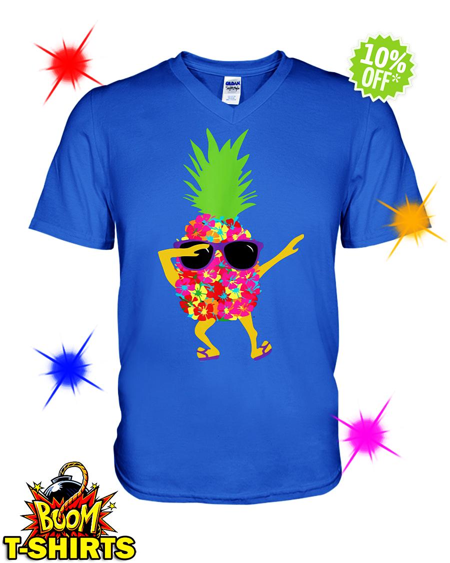 Dabbing Pineapple Sunglasses v-neck
